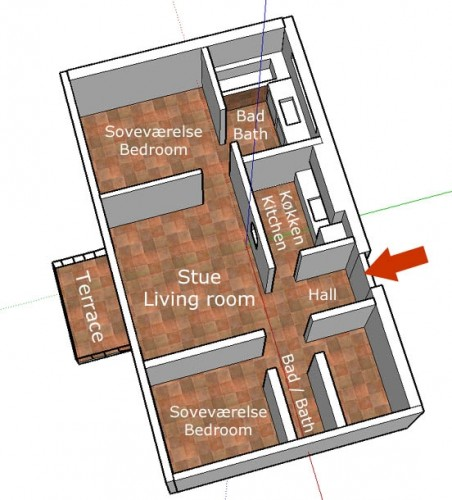 Room distribution plan