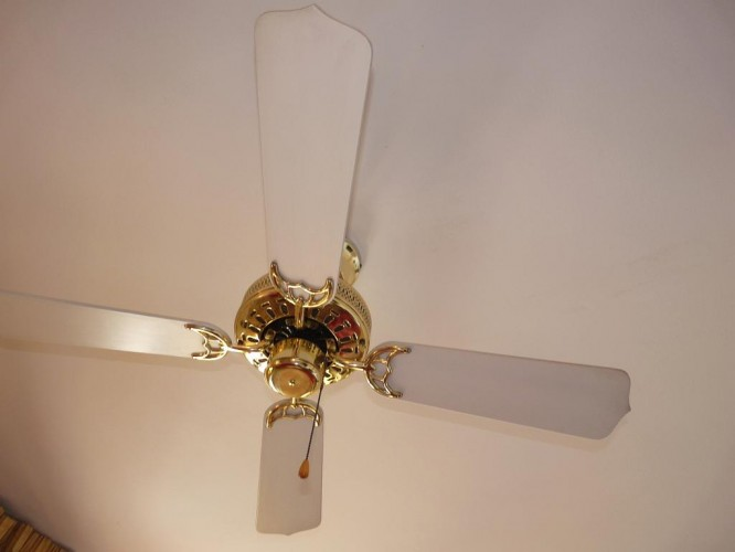 Fan in the master bedroom